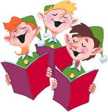 Julenisser synge julesalmer