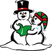Snemænd synger julesange