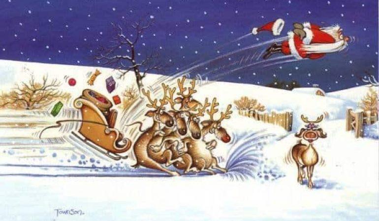 Sjove julebilleder